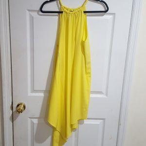 Beautiful yellow spring dress.